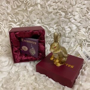 NWOT!Secrets Hidden Treasures Rabbit Trinket Box❤️